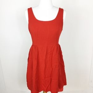 Forever 21 Red Dress Scoop Neck sz. Small